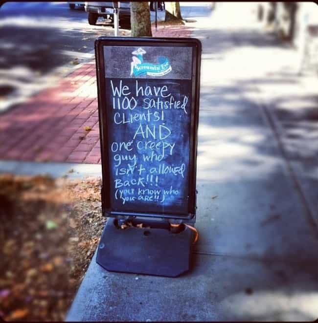 Looks Like I Need To Fin... is listed (or ranked) 4 on the list The 29 Funniest Chalkboard Signs Ever