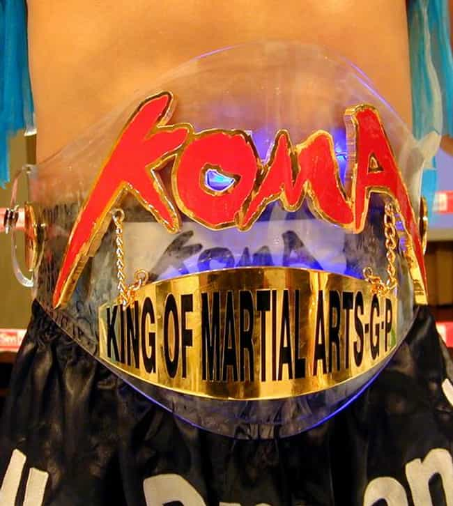 KOMA King of Martial Artists is listed (or ranked) 2 on the list The 15 Ugliest Championship Belts and Trophies of All-Time