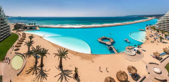 San Alfonso Del Mar is listed (or ranked) 1 on the list The Biggest Swimming Pools in the World