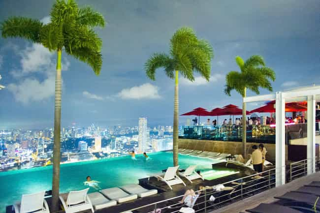 Marina Sands SkyPark is listed (or ranked) 4 on the list The Biggest Swimming Pools in the World