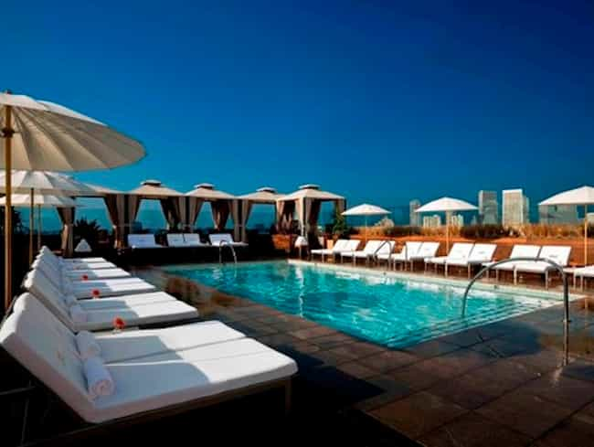 Sixty Beverly Hills is listed (or ranked) 1 on the list The Best Rooftop Pools in Los Angeles