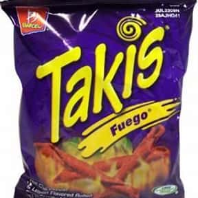 Takis is listed (or ranked) 20 on the list The World's Most Delicious Chips, Crisps & Crunchy Snacks