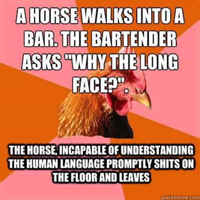 anti joke chicken meme list of anti joke chicken jokes