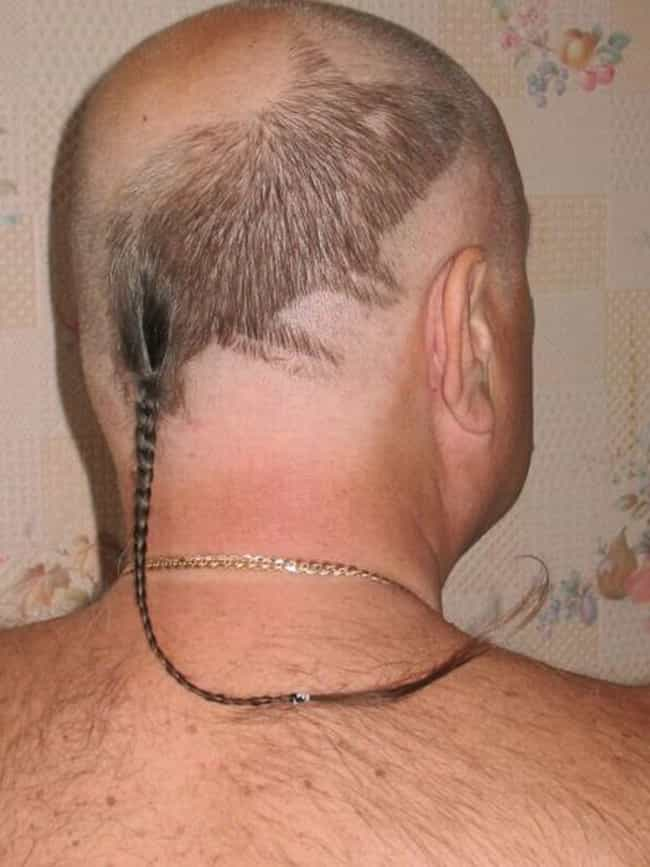 The Rat Tail is listed (or ranked) 1 on the list The Absolute Worst Hairstyles of All Time