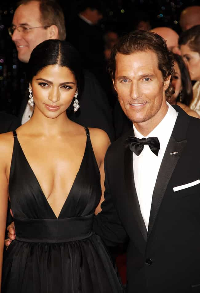 Matthew McConaughey and ... is listed (or ranked) 1 on the list The Best Looking Celebrity Interracial Couples