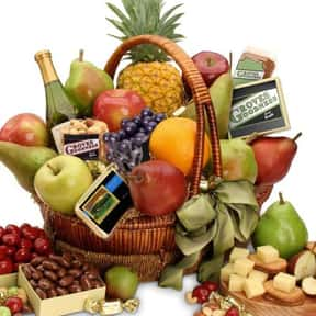 Fruit is listed (or ranked) 2 on the list Fun Gift Basket Ideas