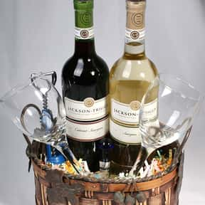 Wine is listed (or ranked) 3 on the list Fun Gift Basket Ideas