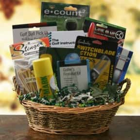 Golf Supplies is listed (or ranked) 14 on the list Fun Gift Basket Ideas