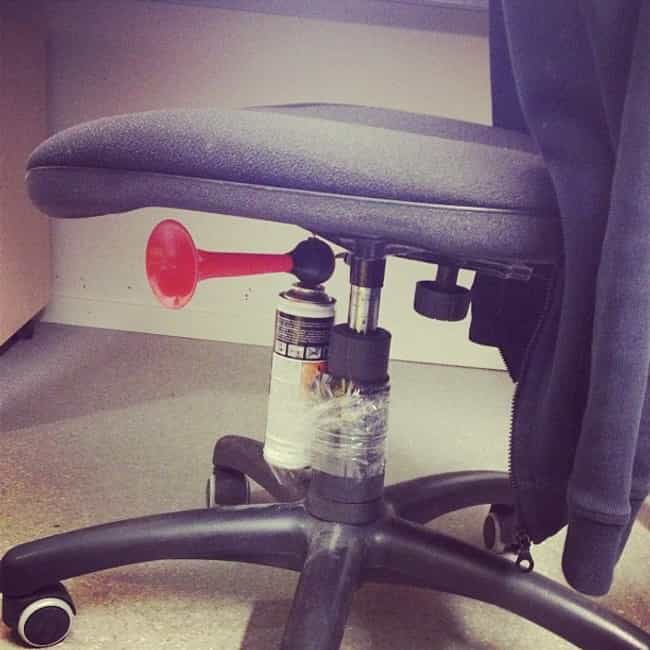 Office Chair Prank is listed (or ranked) 1 on the list The Best April Fools' Day Pranks