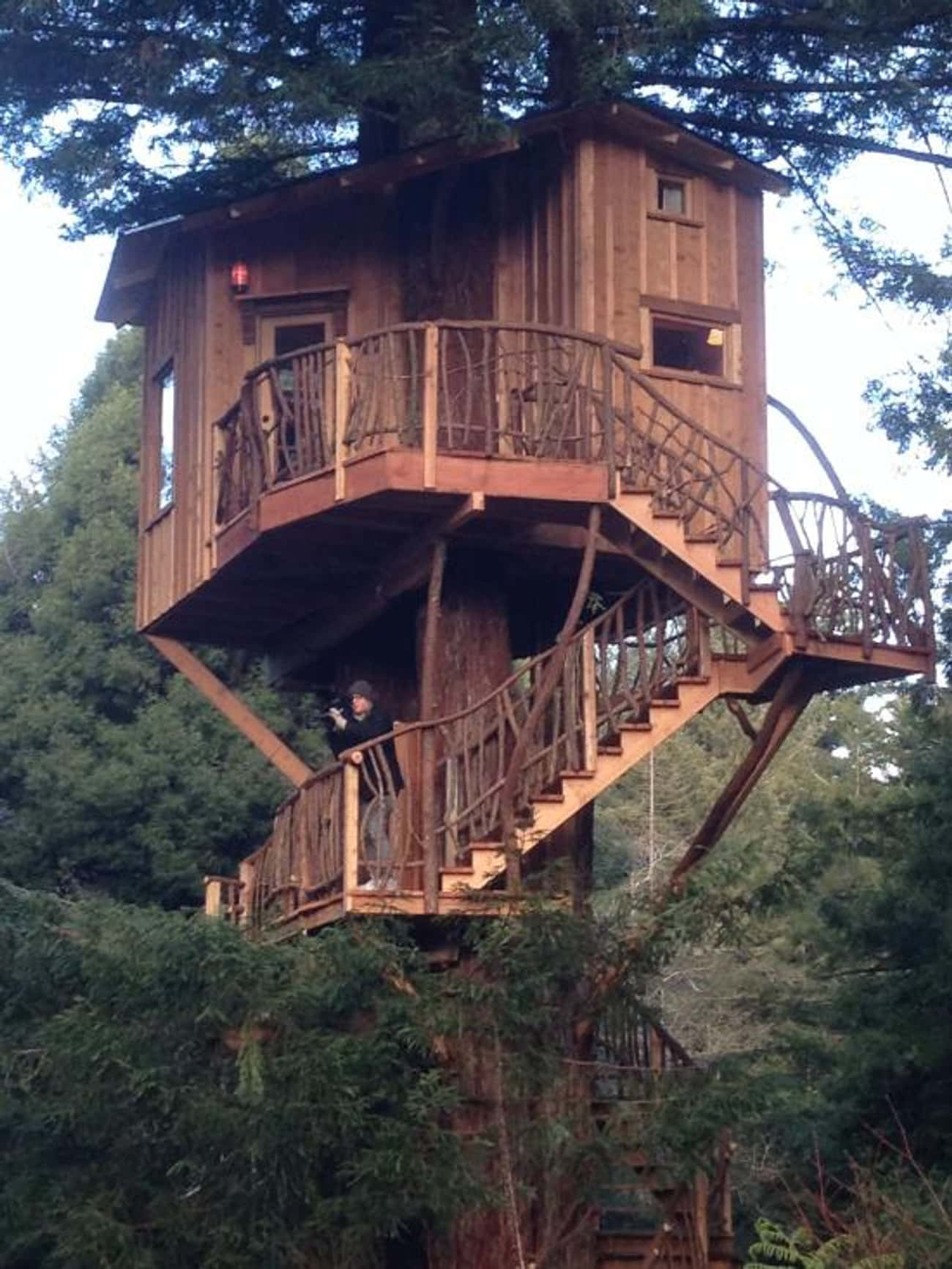 Arcata Redwood Treehouse is listed (or ranked) 2 on the list The Coolest Treehouses in the World