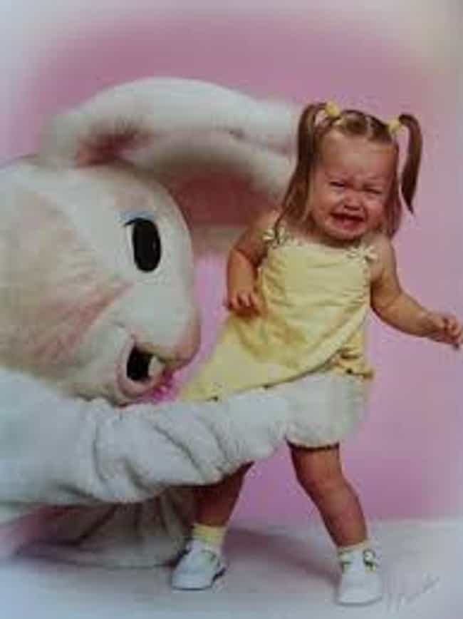 You'll Never Escape! is listed (or ranked) 2 on the list Funny Pics of Kids Crying With the Easter Bunny