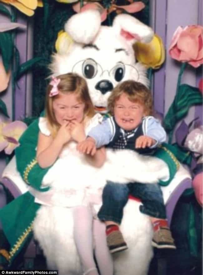 He Won't Let Go! is listed (or ranked) 3 on the list Funny Pics of Kids Crying With the Easter Bunny