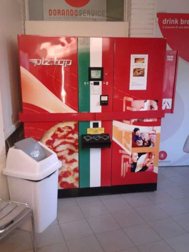 Pizza Vending Machine is listed (or ranked) 3 on the list Insane Vending Machines You Didn't Know You Needed