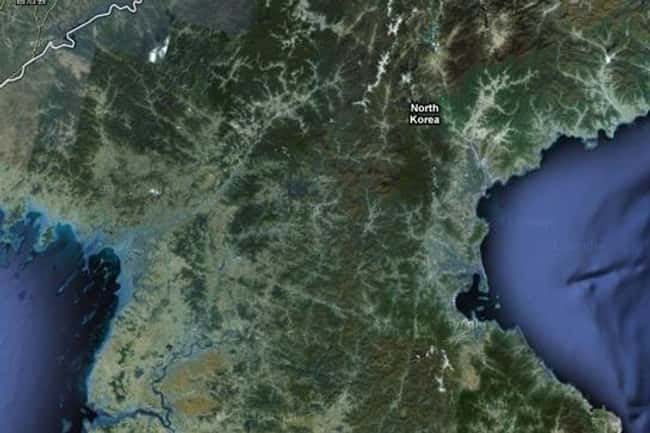 ALL of North Korea is listed (or ranked) 16 on the list Google Earth Won't Let You See These 25 Places