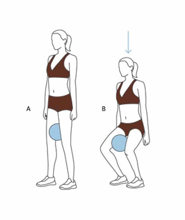 Squat With Ball is listed (or ranked) 3 on the list The Best Exercises for Your Thighs