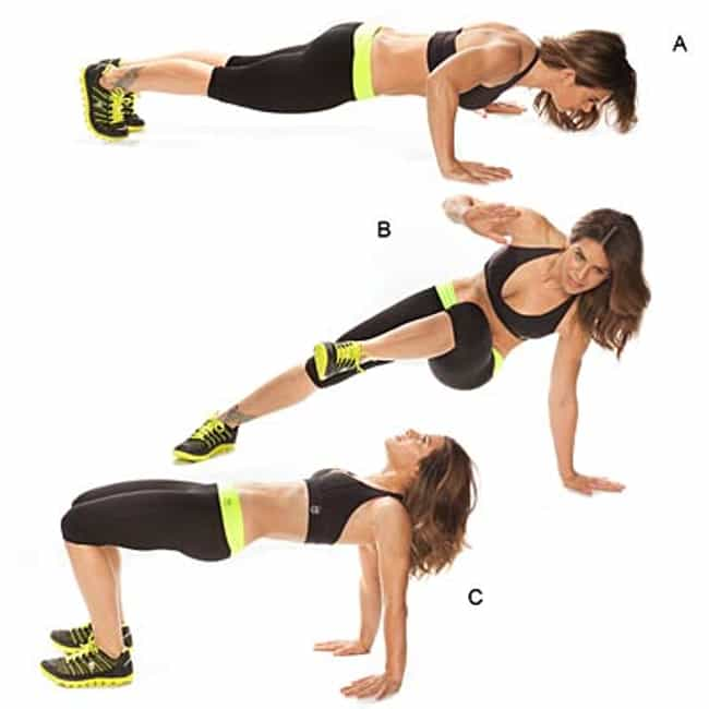 Hip Heist Push-Up is listed (or ranked) 3 on the list The Best Exercises for Your Arms