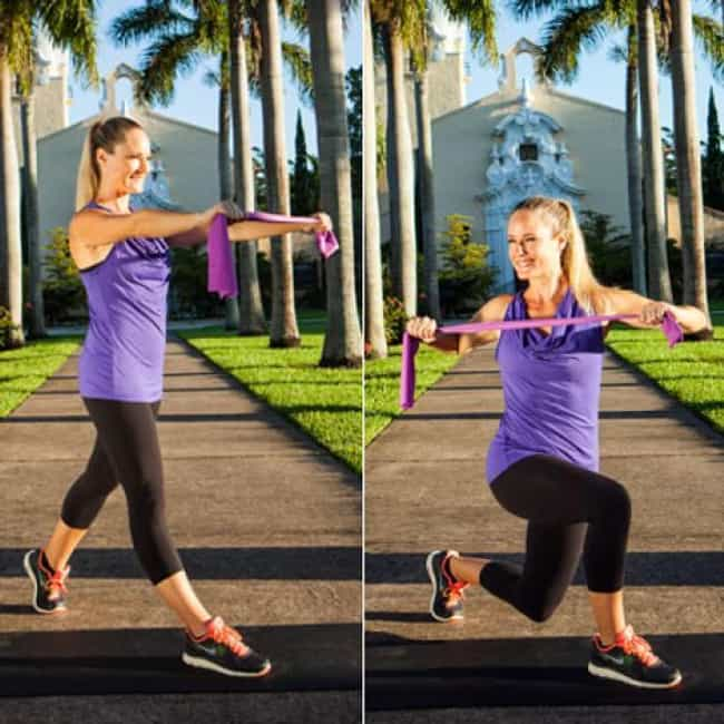 Rotating Lunge and Row is listed (or ranked) 1 on the list The Best Exercises To Do With Resistance Bands