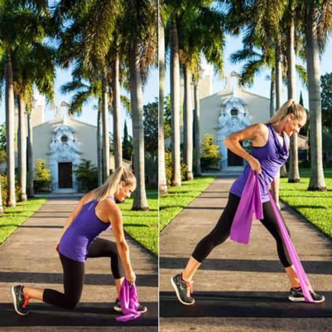 Reaching Rear Row is listed (or ranked) 3 on the list The Best Exercises To Do With Resistance Bands