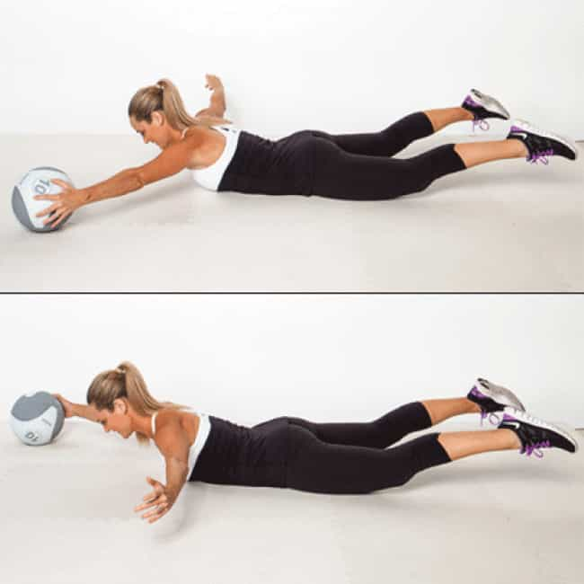 Extension Pass is listed (or ranked) 4 on the list The Best Exercises To Do With a Medicine Ball