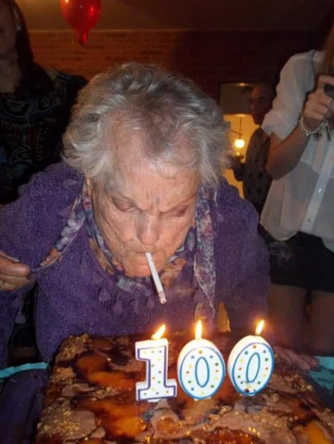Someone Give Grandma a Light, ... is listed (or ranked) 3 on the list 40 Funny Birthday Fails