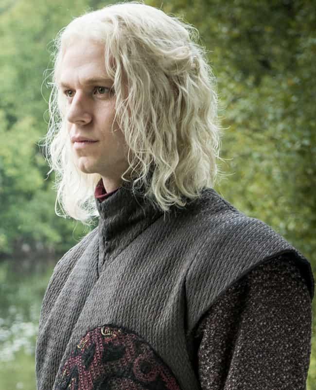 Rhaegar is listed (or ranked) 4 on the list The Best Members of House Targaryen