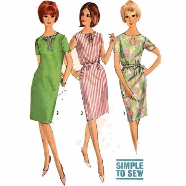 Shift Dress is listed (or ranked) 4 on the list The Best Fashions from the 1960s