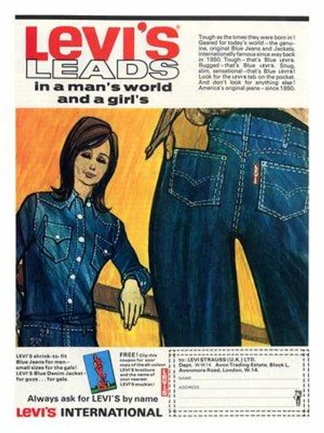 Levi's is listed (or ranked) 3 on the list The Best Fashions from the 1960s