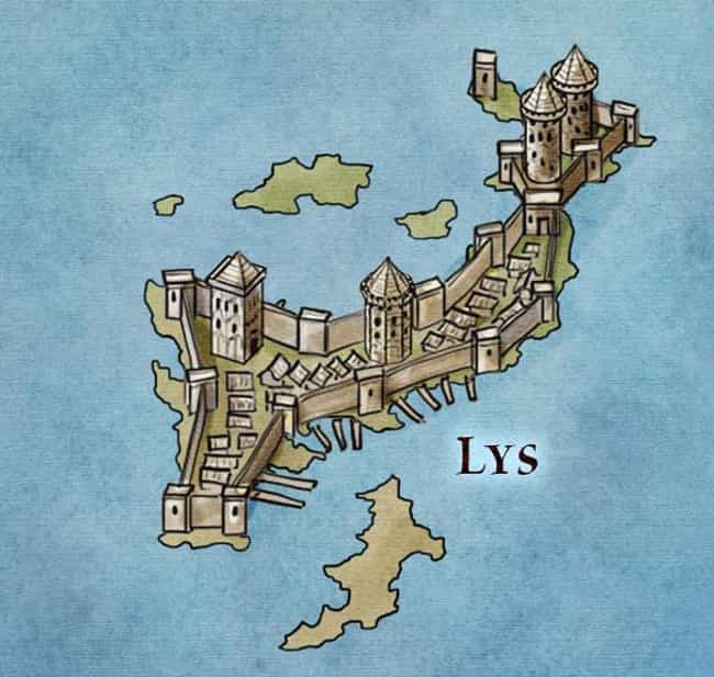 "Lys is listed (or ranked) 3 on the list ""Game of Thrones"" History: Essos and Its Cities"