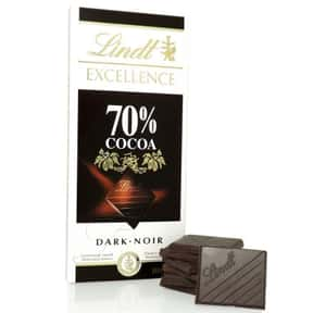 Lindt is listed (or ranked) 8 on the list The Best Chocolate Bars