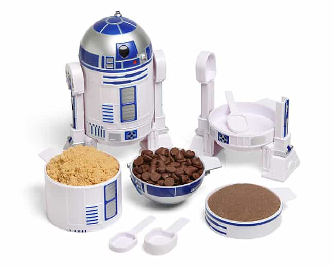 R2-D2 Measuring Cups is listed (or ranked) 4 on the list 43 Star Wars Gifts Your Nerd Will Love