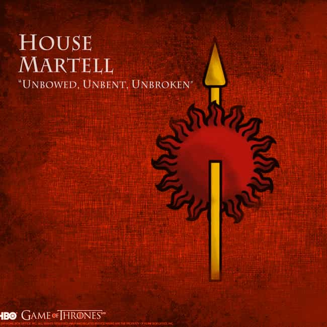 elia martell is listed or ranked 2 on the list all members of house