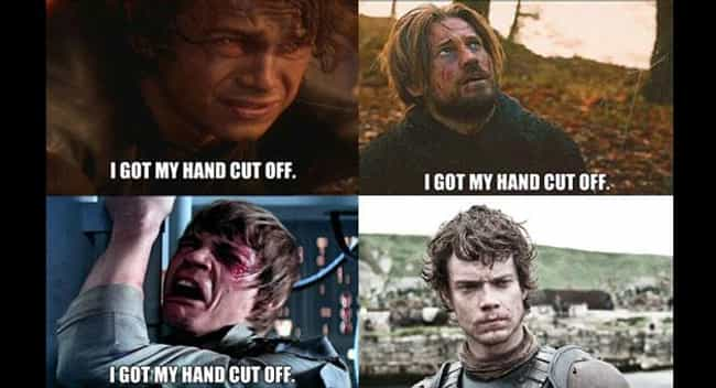 Lucky. is listed (or ranked) 2 on the list 20 Epic 'Game Of Thrones' Meets 'Star Wars' Memes
