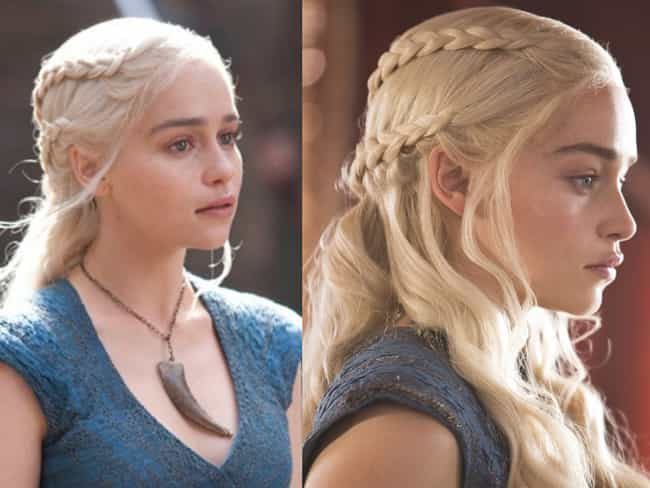Daenerys's Dutch Braid Look is listed (or ranked) 1 on the list The Best Hairstyles on 'Game of Thrones'