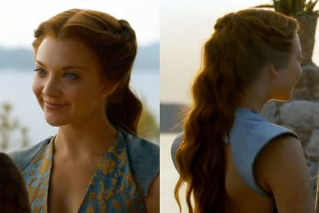 Margaery's Loose Wave Pullback is listed (or ranked) 4 on the list The Best Hairstyles on 'Game of Thrones'