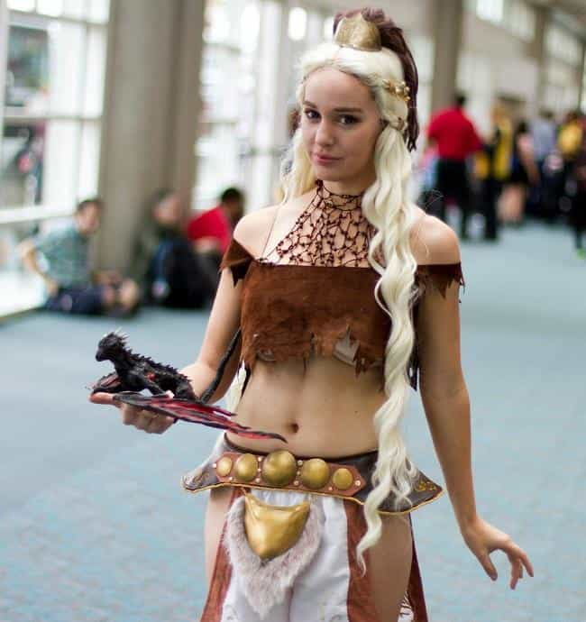 Dont Startle Him, Khaleesi is listed (or ranked) 4 on the list Game of Thrones Cosplay: Girls Dressed Like Khaleesi