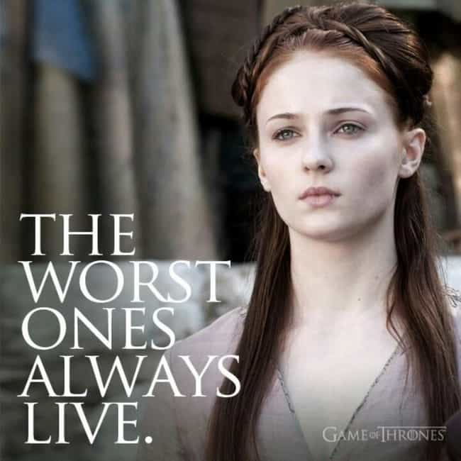 Re: Joffrey is listed (or ranked) 1 on the list The Best Sansa Stark Quotes