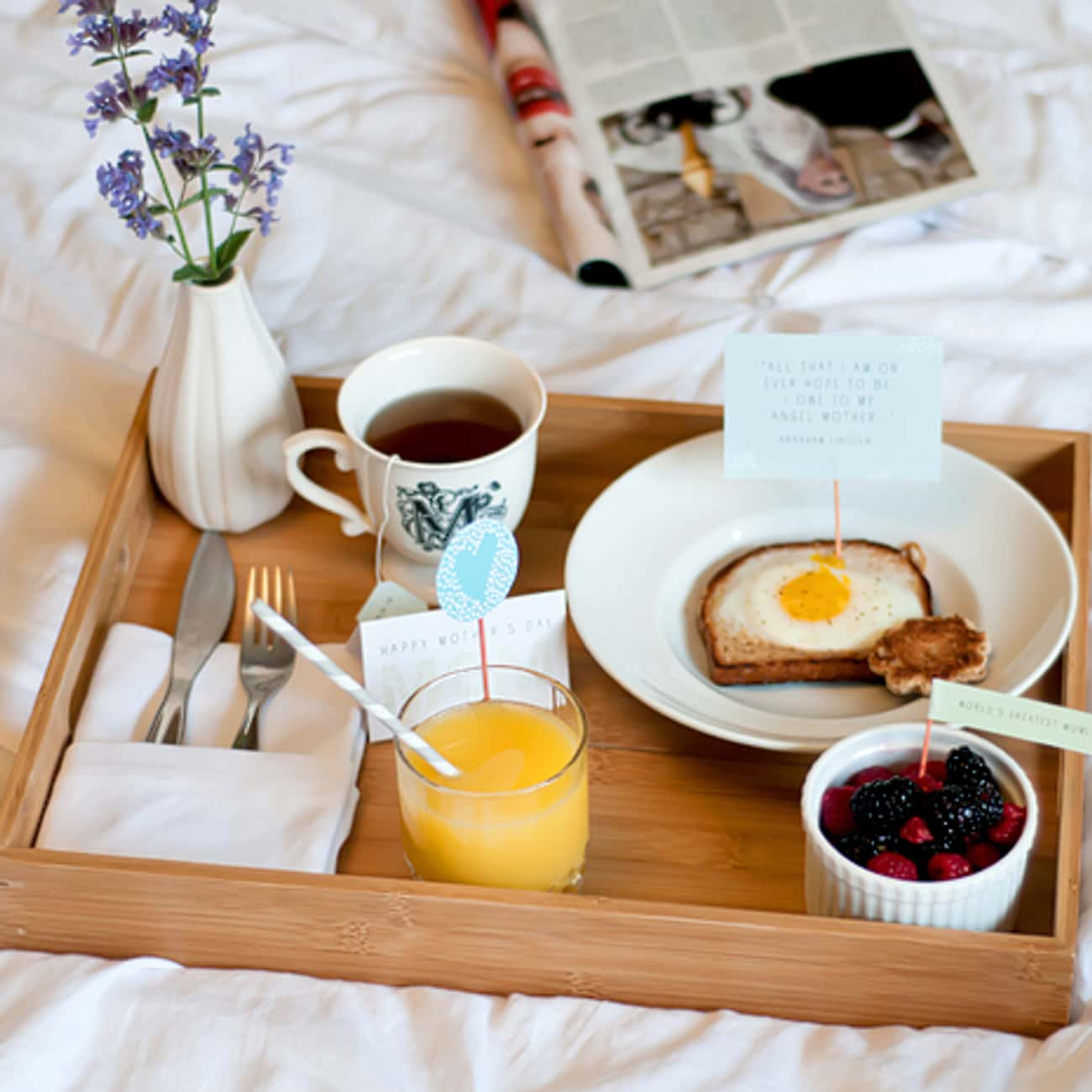 Breakfast in Bed is listed (or ranked) 2 on the list Date Ideas for Winter