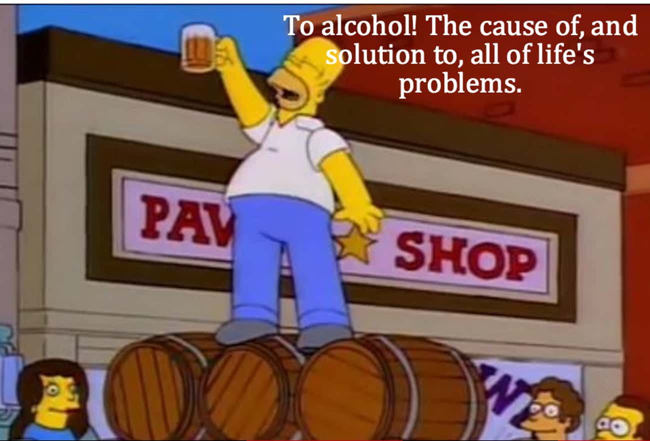 On Alcohol is listed (or ranked) 1 on the list Homer Simpson's Life Lessons