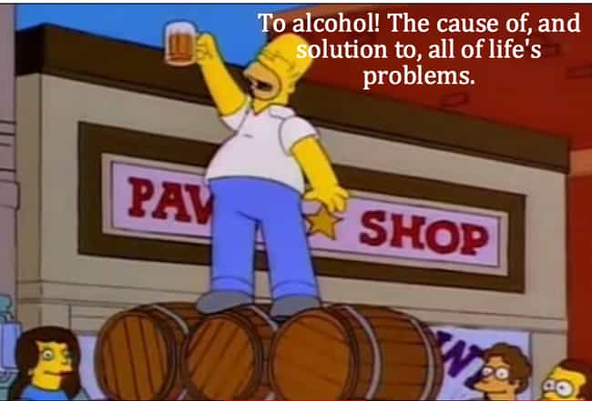 On Alcohol is listed (or ranked) 3 on the list Homer Simpson's Life Lessons