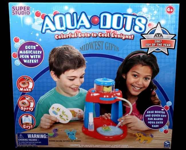 Aqua Dots Knocked Kids O... is listed (or ranked) 4 on the list The Craziest Near Death Accidents Caused By Toys