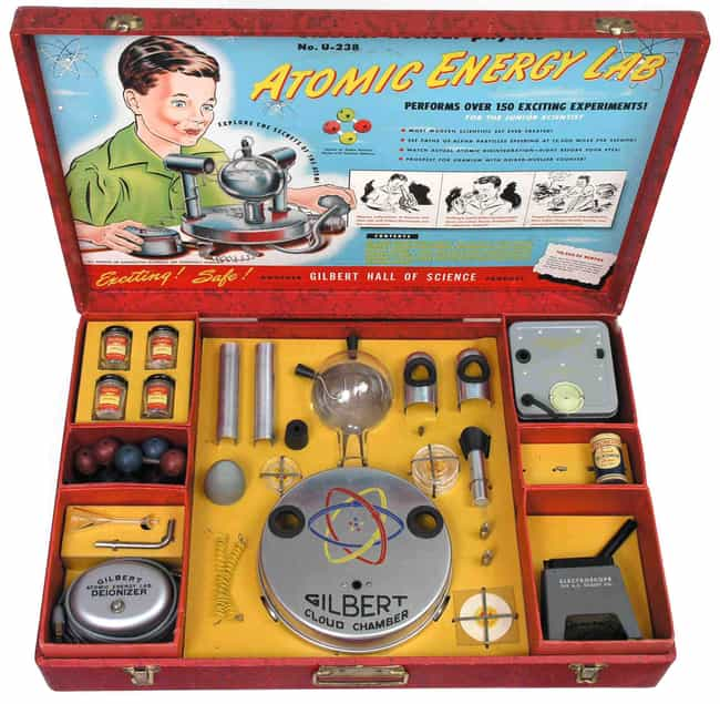 Atomic Energy Lab Let Kids Pla... is listed (or ranked) 4 on the list The Craziest Near Death Accidents Caused By Toys