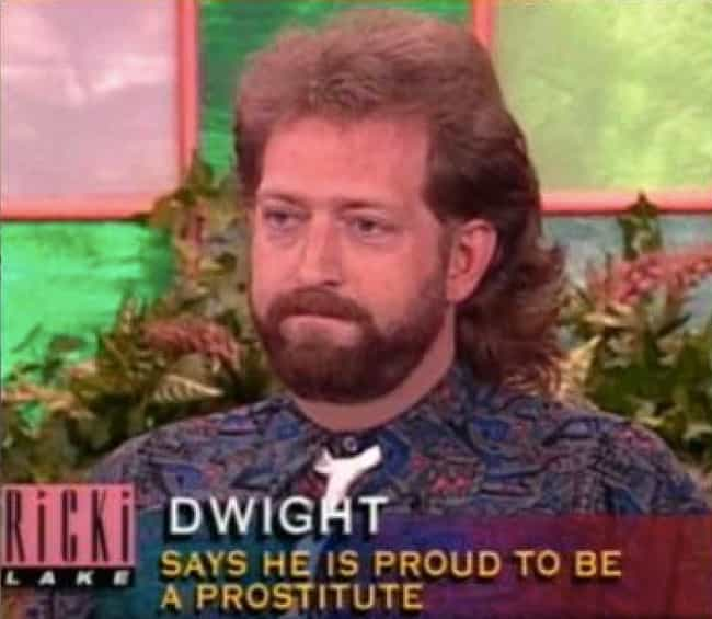 Work It, Dwight is listed (or ranked) 7 on the list 28 Ridiculous Daytime Talk Show Guest Captions