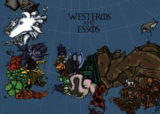 An Animal Map is listed (or ranked) 4 on the list The Coolest Game of Thrones Fan Maps