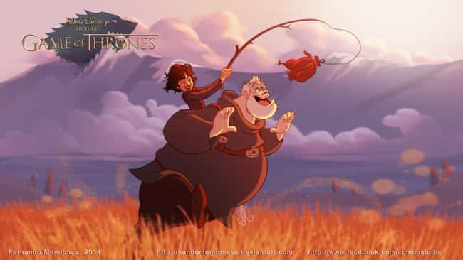 Bran & Hodor is listed (or ranked) 4 on the list These Fans Drew Your Favorite Game Of Thrones Characters As Disney Cartoons