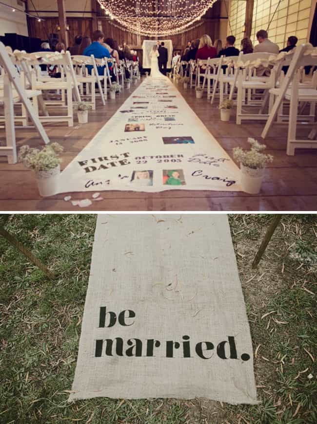 Incorporate Your Love Story In... is listed (or ranked) 3 on the list 26 Quirky Ideas for an Offbeat Wedding