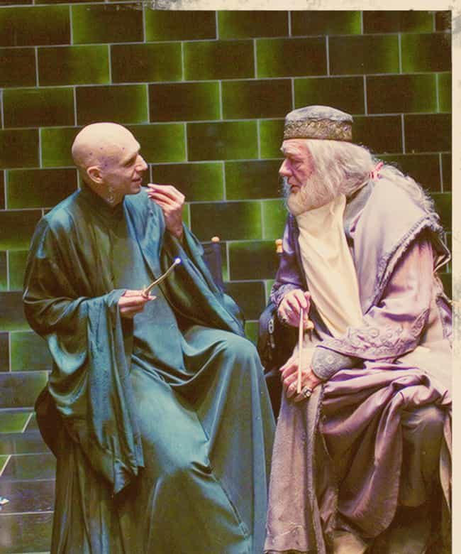 Voldemort and Dumbledore Havin... is listed (or ranked) 2 on the list 64 MORE Behind the Scenes Photos from Famous Movies