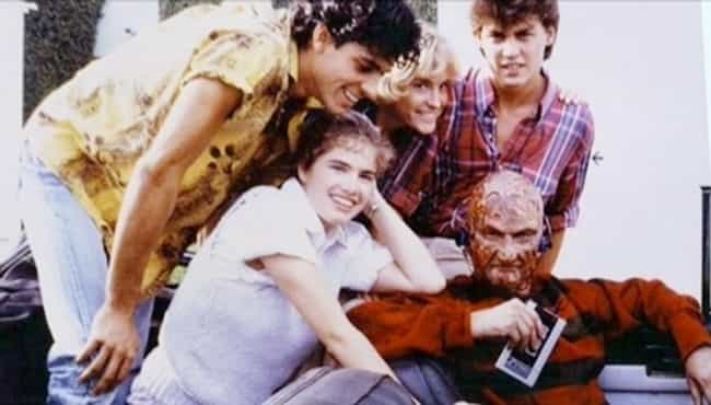 FREDDY KRUGER WEARING A WALKMA... is listed (or ranked) 4 on the list 64 MORE Behind the Scenes Photos from Famous Movies