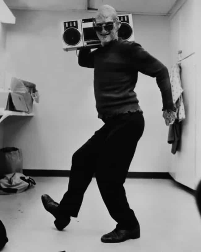 FREDDY KRUGER WITH a BOOM BOX is listed (or ranked) 3 on the list 64 MORE Behind the Scenes Photos from Famous Movies