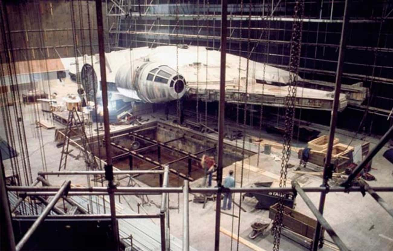 The Actual Millenium Falcon is listed (or ranked) 3 on the list Rare Star Wars Behind-The-Scenes Photos
