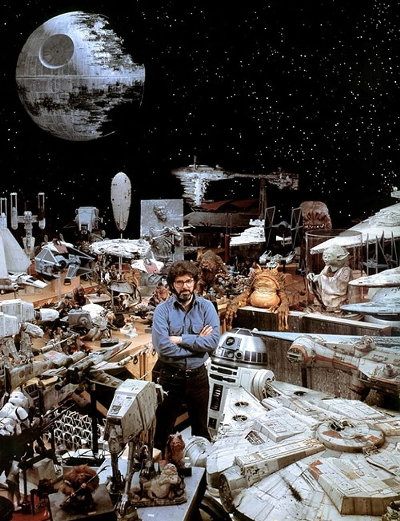 George Lucas And A Sea Of Mini is listed (or ranked) 1 on the list Rare Star Wars Behind-The-Scenes Photos
